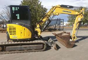 2014 YANMAR VIO55-6 EXCAVATOR WITH A/C CABIN, HITCH, BUCKETS AND 3092 HOURS