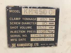 Kawaguchi KM450C Injection Moulding Machine - Completely Refurbished. - picture2' - Click to enlarge