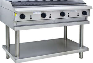1200mm Chargrill with legs & shelf