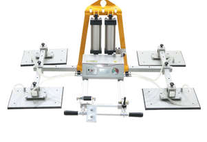 Pneumatic Vacuum Lifter AVLP4-1000kg for Smooth Granite and Marble and Glass. Lifts & tilts 90°.