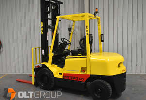 Hyster 3 Tonne Diesel Forklift H3.00DX 1851 Low Hours 4300mm Lift Height Sideshift