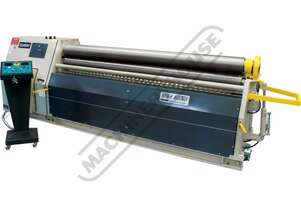 MRM-H 2550x200 Motorised Plate Curving Rolls 2550 x 6mm Mild Steel Capacity Initial Pinch Design