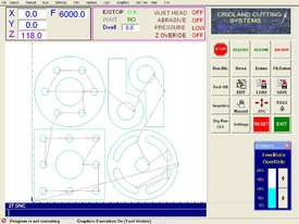 WATERJET CUTTING CNC PROFILE CONTROLLER - picture1' - Click to enlarge