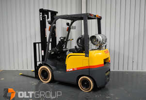 TCM 1.8 Tonne Forklift LPG Solid Markless Tyres 3750mm Lift Height Sideshift