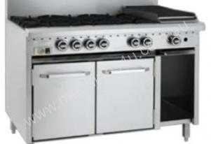 Luus Model CRO-6B3P - 6 Burners 300 Grill and Oven