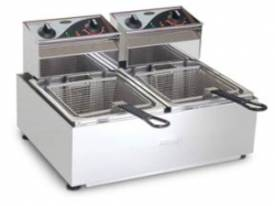 Fryer- Roband F28 Double Pan Fryer- 2x8 Litre Tank - picture0' - Click to enlarge