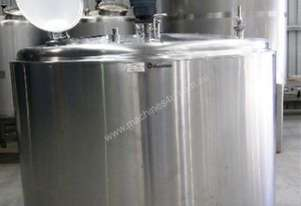 3,600lt Jacketed Stainless Steel Tank