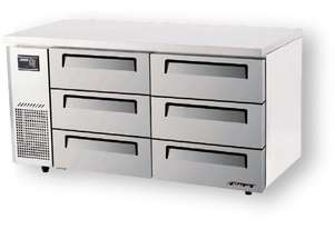 Turbo Air KUF15-3D-6 Drawer Under Counter Side Prep Table Freezer