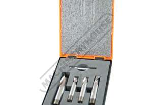 5 Piece - Metric  Industrial HSS Slot Drill Set 6, 8, 10, 12, 16mm Two Flute - Screwed Shank