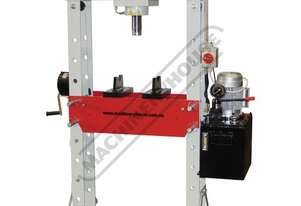 HPM-50 Industrial Motorised Hydraulic Press - 50 Tonne CNC Welded Steel Frame Construction Includes