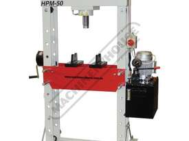 HPM-50 Industrial Trade Hydraulic Press 50 Tonne Sliding Cylinder Ram - picture0' - Click to enlarge