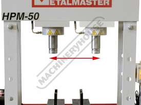 HPM-50 Industrial Trade Hydraulic Press 50 Tonne Sliding Cylinder Ram - picture3' - Click to enlarge
