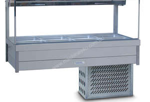 Roband SRX24RD Square Glass Refrigerated Display