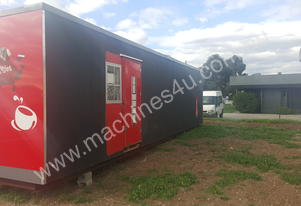 Used 11m x 1.8m Drive Through Cafe