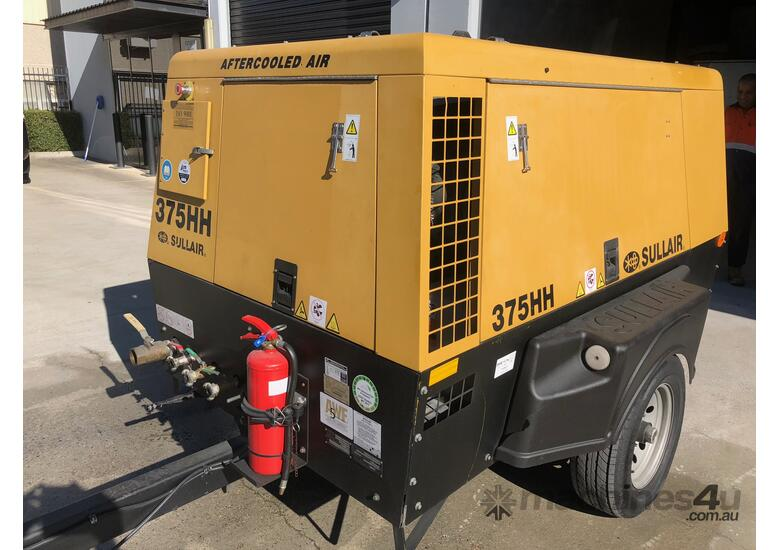 Sullair 375HH after-cooled 200 PSI diesel tow-able compressors