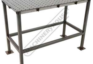 WTL60120-M CertiFlat PRO 1D Welding Table 600 x 1200 x 860mm (LxWxH) Tab & Slot U-Weld