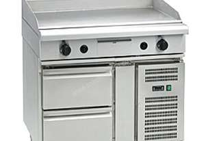 Waldorf 800 Series GP8900G-RB - 900mm Gas Griddle `` Refrigerated Base