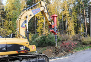 MOVAX TAD-51 EXCAVATOR MOUNTED PILING DRILL