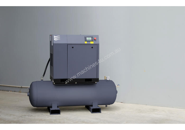 Screw Compressor with tank and dryer 11kW (15HP)