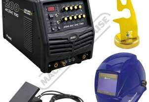AC/DC 200 Inverter Tig Welder Package Deal 10-200A #KUMJR200AC/DC Includes Auto Welding Helmet & Foo