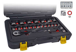 A84501 - 22PC 1/2\ DR. 6PT METRIC THIN WALL SOCKET SET