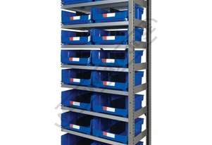 MSR-16E Industrial Modular Storage Shelving Expansion Package Deal 898 x 465.4 x 2030mm Includes 16