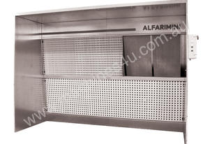 Alfarimini Open Dry spray booth 3m wide 1.5 deep AVALIABLE IN 4 AND 6 METRE