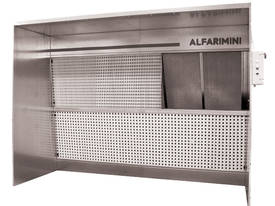 SPRAY PAINTING BOOTH ALFA 3A/ECO 3(L) X 1.5(D) X 3.3(H) FAN 3HP SUCTION 12000 MC/H ECO FRINDLY 3 DIF - picture0' - Click to enlarge