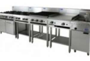 Luus Essentials Series 1200 Wide Cooktops 6 burners, 300 bbq & shelf