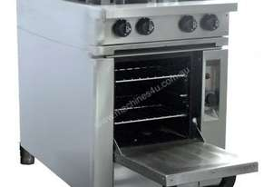 Oxford Series 4BBT-OV Four Burner Cooktop w/Gas Oven