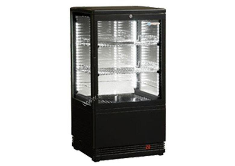 ICS Venice Joey Four Sided Glass Refrigerated Display in Black-Bench Top