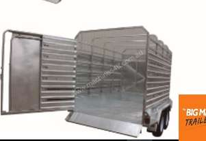 8X5 TANDEM GALVANISED STOCK CATTLE TRAILERS CRATE COW LIVESTOCK FARM 2800ATM