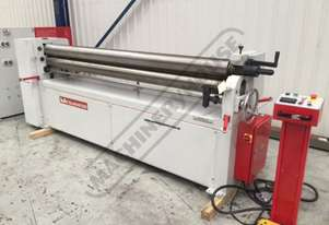 PR-252A Motorised Plate Curving Rolls 2550 x 2.5mm Mild Steel Capacity Motorised Up/Down Rear Roll,