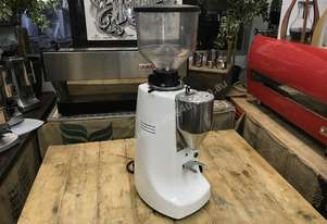MAZZER ROBUR ELECTRONIC WHITE ESPRESSO COFFEE GRINDER MACHINE CAFE