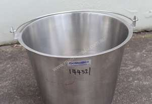 Stainless Steel Tapered Bucket
