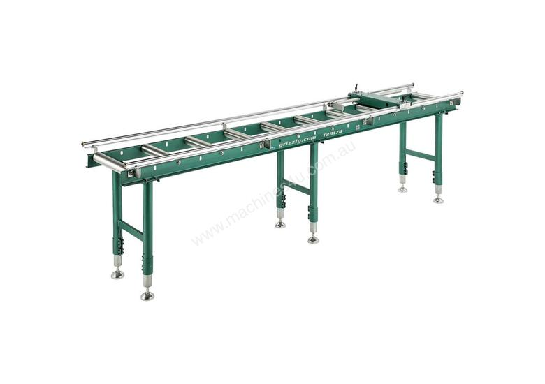 Calibrated Deluxe Length Stop Roller Conveyor Kit, 360mm x 3000mm Linear Measuring System