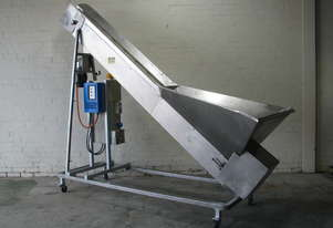 Stainless Hopper Feeder Variable Speed Incline Conveyor