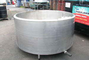 Stainless Steel Tank Vat Milk Food Grade - 1800L