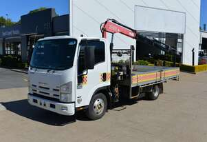 2009 ISUZU NNR 200 - Truck Mounted Crane - Tray Top Drop Sides