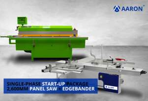 Single-Phase Start-up Package: Edgebander + 2,600mm Panel Saw | Aaron AU2800B, MJ-26KB
