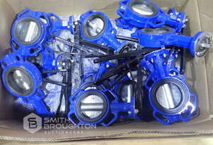 CRATE COMPRISING OF ASSORTED BUTTERFLY VALVES