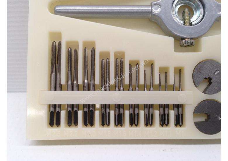 24 Piece Miniature Tap & Die Set - M1- M2.5