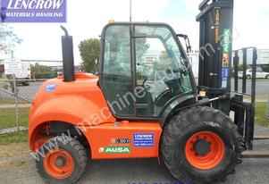 Late model allterrain forklift for hire
