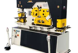 PUNCHTECH 90 TON IRON WORKER | HYD PLATE CLAMPING | LASER ALIGNMENT LIGHT | PRESS BRAKE TOOLING