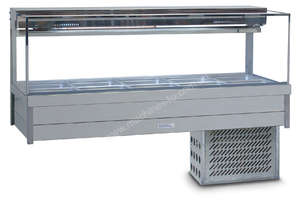 Roband SRX25RD Square Glass Refrigerated Display