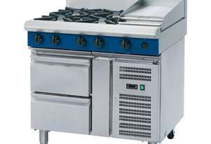 Blue Seal Evolution Series G516C-RB - 900mm Gas Cooktop Refrigerated Base