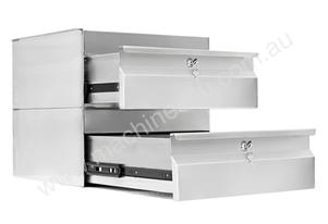 Simply Stainless 410x450x450mm Double Drawer