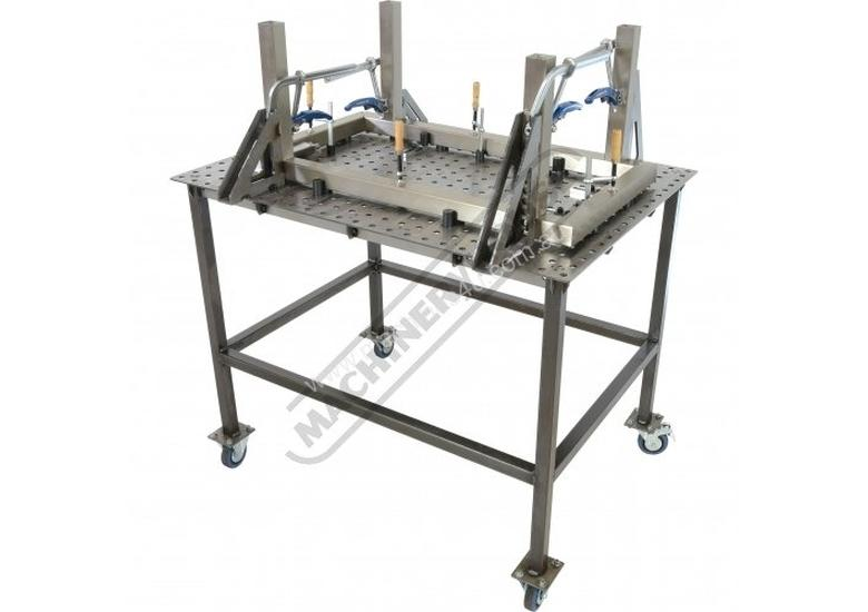 WTL90120-M CertiFlat PRO 1D Welding Table 900 x 1200 x 860mm (LxWxH) Tab & Slot U-Weld