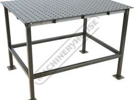 WTL90120-M CertiFlat PRO 1D Welding Table 900 x 1200 x 860mm (LxWxH) Tab & Slot U-Weld - picture0' - Click to enlarge