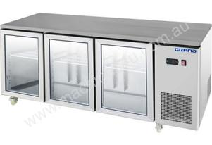 F.E.D. GTR3100BG GRAND True Quality Three Glass Door Gastronorm Work Bench Fridge